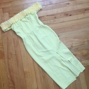 ASOS Fluff Bardot Midi Dress (size 2)